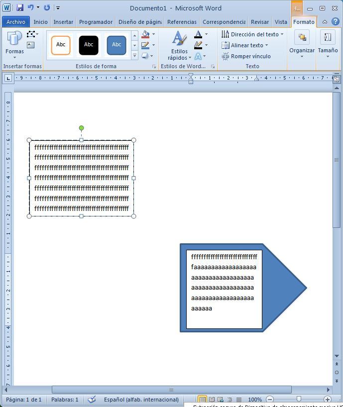 Crear cuadro de texto